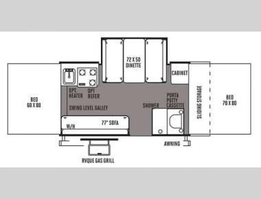 Floorplan - 2014 Forest River RV Flagstaff Classic 625D