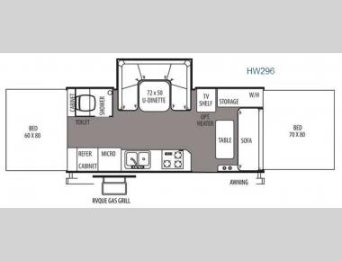 Floorplan - 2014 Forest River RV Rockwood High Wall Series HW296