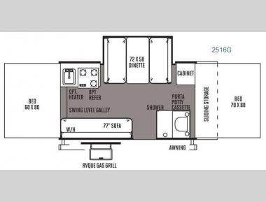 Floorplan - 2014 Forest River RV Rockwood Premier 2516G
