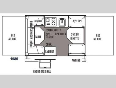Floorplan - 2014 Forest River RV Rockwood Freedom Series 1980