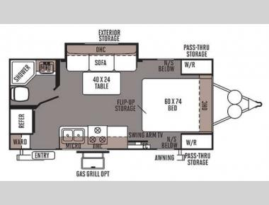 Floorplan - 2014 Forest River RV Flagstaff Micro Lite 21FBRS