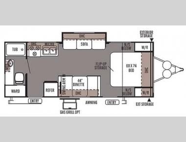 Floorplan - 2014 Forest River RV Flagstaff Micro Lite 25DS
