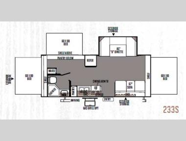 Floorplan - 2014 Forest River RV Rockwood Roo 233S