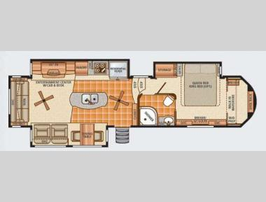 Floorplan - 2013 Dynamax Trilogy 3650RL