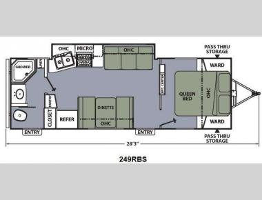 Floorplan - 2014 Coachmen RV Apex Ultra-Lite 249RBS
