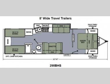 Floorplan - 2014 Coachmen RV Apex Ultra-Lite 298BHS