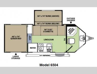 Floorplan - 2014 Forest River RV V-Cross Vibe 6504