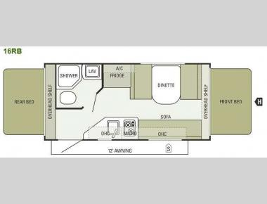 Floorplan - 2014 Starcraft  Launch 16RB