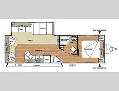 Floorplan - 2014 Forest River RV Salem 27RLSS