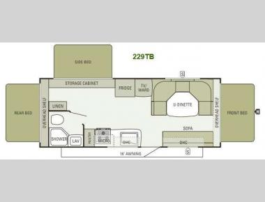 Floorplan - 2014 Starcraft  Travel Star 229TB