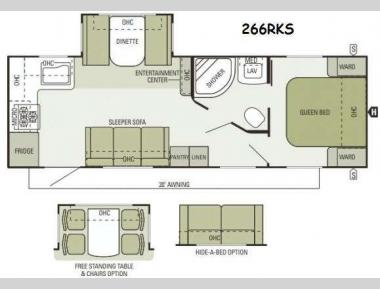 Floorplan - 2014 Starcraft  Autumn Ridge 266RKS
