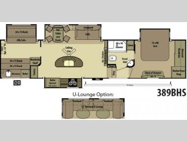 Floorplan - 2014 Open Range RV 389BHS