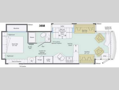 Floorplan - 2014 Winnebago Journey 36M