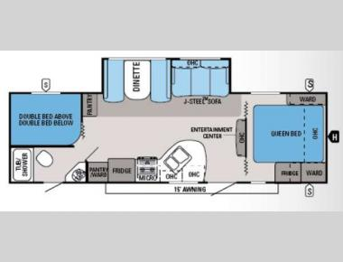Floorplan - 2014 Jayco White Hawk 28DSBH