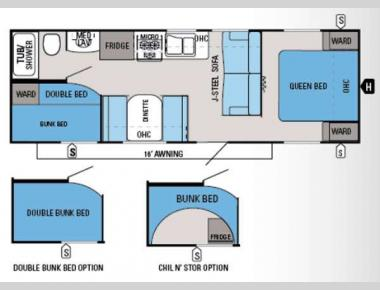 Floorplan - 2014 Jayco Jay Flight Swift 264BH