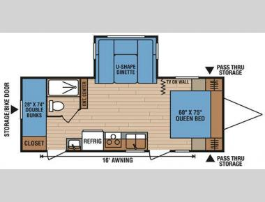 Floorplan - 2014 KZ Spree 231BHS