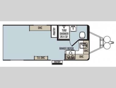 Floorplan - 2014 Forest River RV Work and Play Ultra Lite 16UL