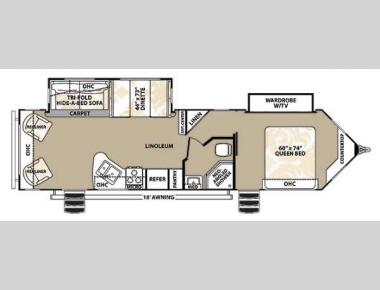 Floorplan - 2014 Forest River RV V-Cross Platinum 32VRLS