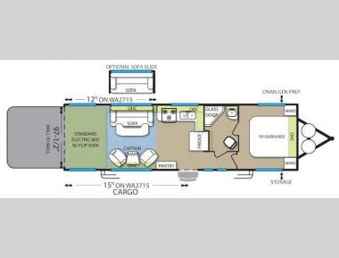 Floorplan - 2014 Forest River RV Stealth WA2715