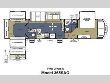 Floorplan - 2014 Forest River RV Sierra 365SAQ