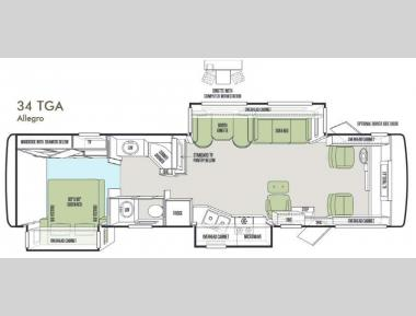 Floorplan - 2014 Tiffin Motorhomes Allegro 34 TGA