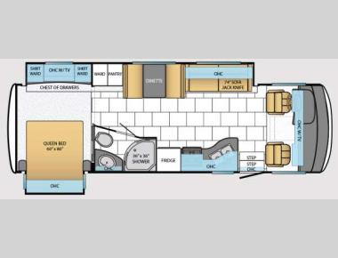 Floorplan - 2014 Newmar Bay Star 2903