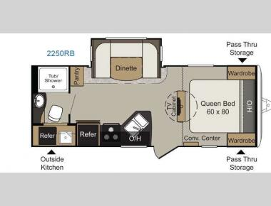 Floorplan - 2014 Keystone RV Passport 2250RB Grand Touring