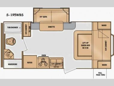 Floorplan - 2014 Cruiser Shadow S 195WBS