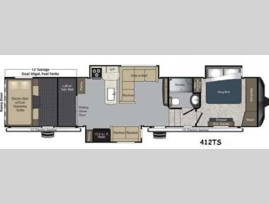 Floorplan - 2014 Keystone RV Raptor 412TS