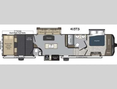Floorplan - 2014 Keystone RV Raptor 415TS