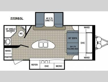 Floorplan - 2014 Dutchmen RV Kodiak 220RBSL Ultimate