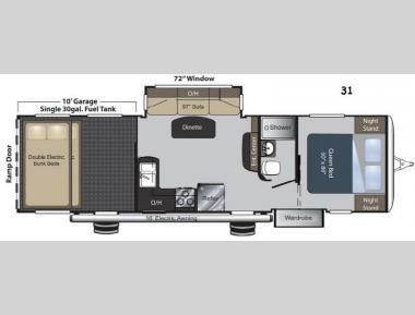 Floorplan - 2015 Keystone RV Carbon 31