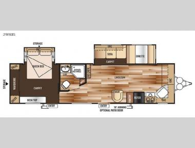 Floorplan - 2015 Forest River RV Wildwood 29FKBS
