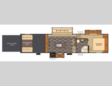 Floorplan - 2014 Forest River RV Vengeance Super Sport 320A