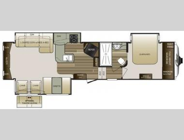 Floorplan - 2015 Keystone RV Cougar 327RES