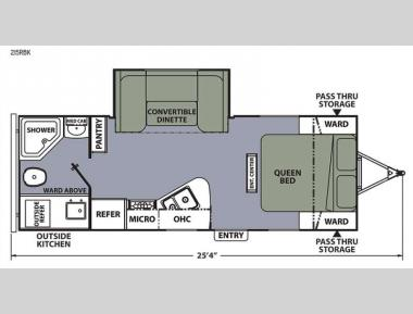 Floorplan - 2015 Coachmen RV Apex Ultra-Lite 215RBK