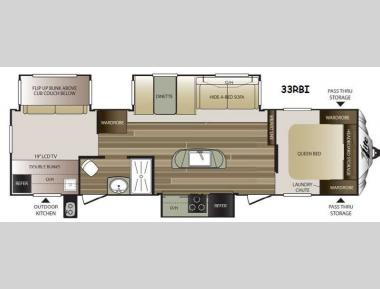 Floorplan - 2015 Keystone RV Cougar X-Lite 33RBI
