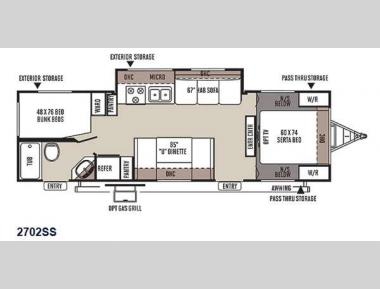 Floorplan - 2015 Forest River RV Rockwood Ultra Lite 2702SS