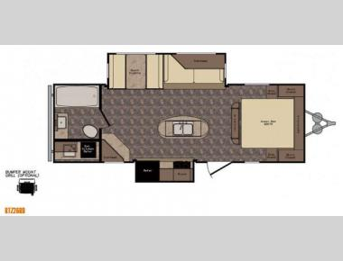 Floorplan - 2015 CrossRoads RV ReZerve RTZ26RB