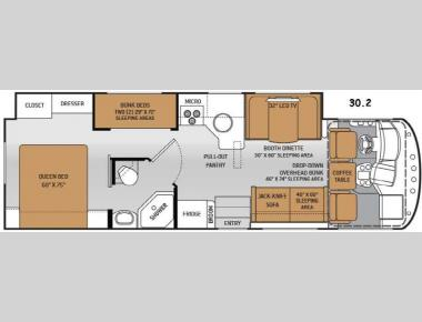 Floorplan - 2015 Thor Motor Coach ACE 30.2