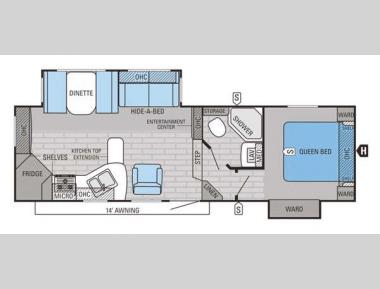 Floorplan - 2015 Jayco Eagle HT 26.5RKS
