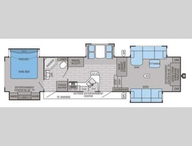 Floorplan - 2015 Jayco Pinnacle 38FLFS