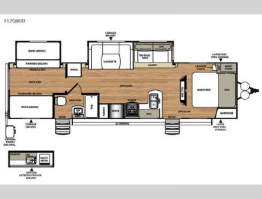 Floorplan - 2015 Forest River RV Salem Hemisphere Lite 312QBUD