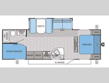 Floorplan - 2015 Jayco Jay Flight 26BHS