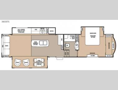 Floorplan - 2015 Forest River RV Cedar Creek 36CKTS