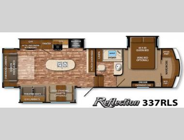 Floorplan - 2015 Grand Design Reflection 337RLS