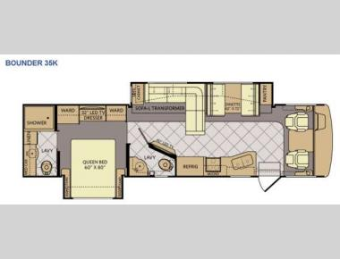 Floorplan - 2015 Fleetwood RV Bounder 35K