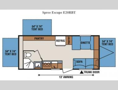 Floorplan - 2015 KZ Spree Escape E20RBT