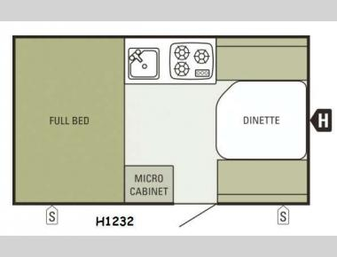 Floorplan - 2015 Starcraft Comet Hardside H1232