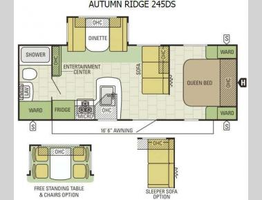 Floorplan - 2015 Starcraft Autumn Ridge 245DS